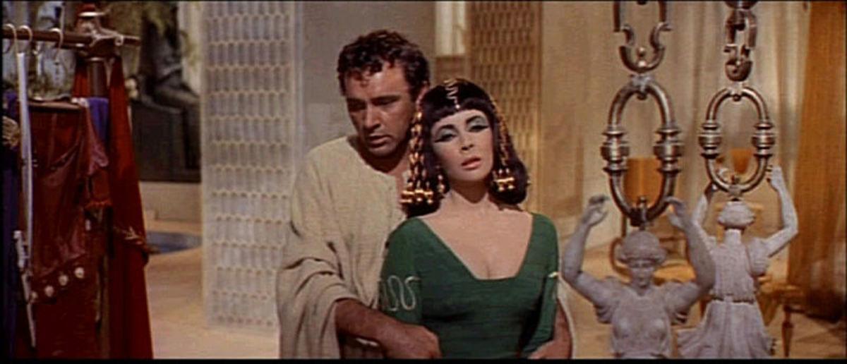 Richard Burton and Elizabeth Taylor in Cleopatra, 1963