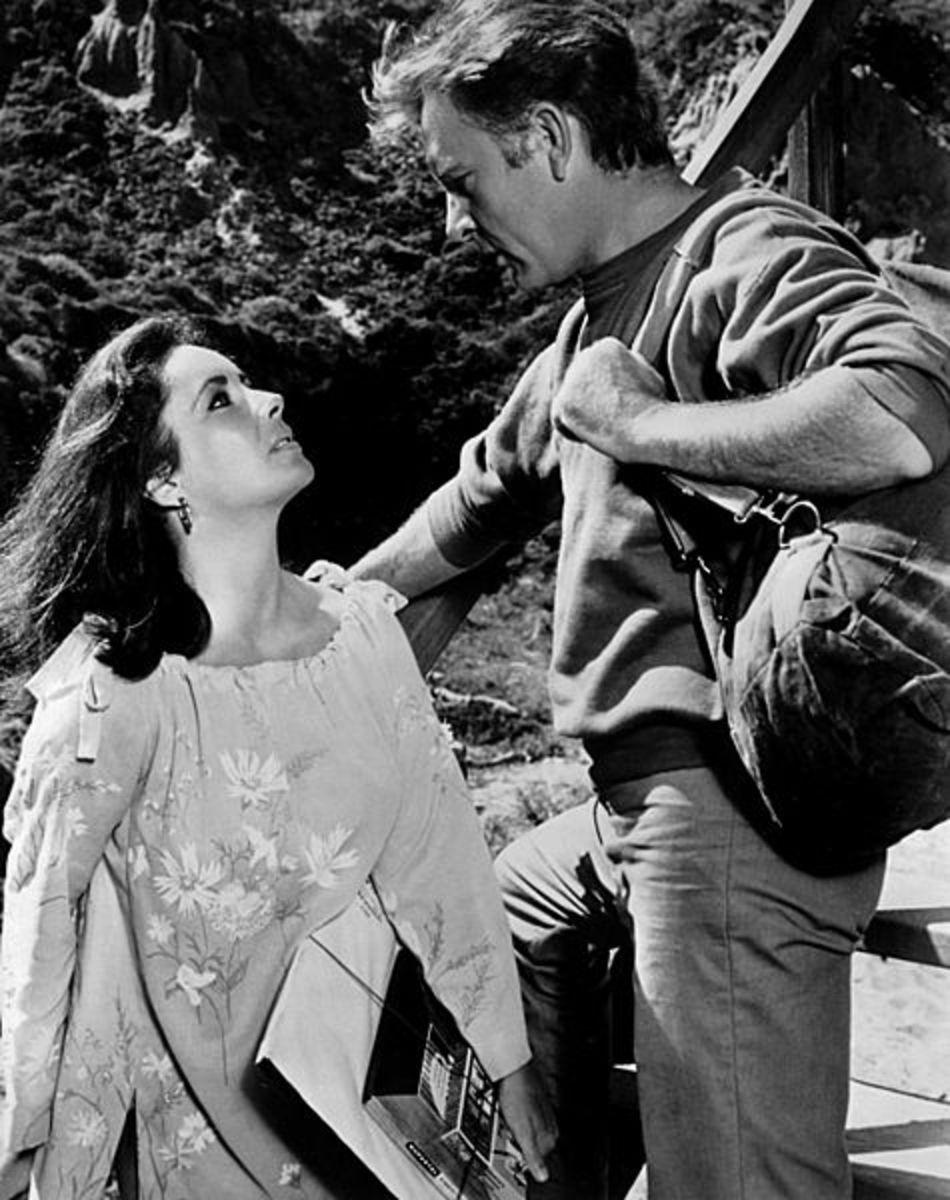 Elizabeth Taylor and Richard Burton in Sandpiper