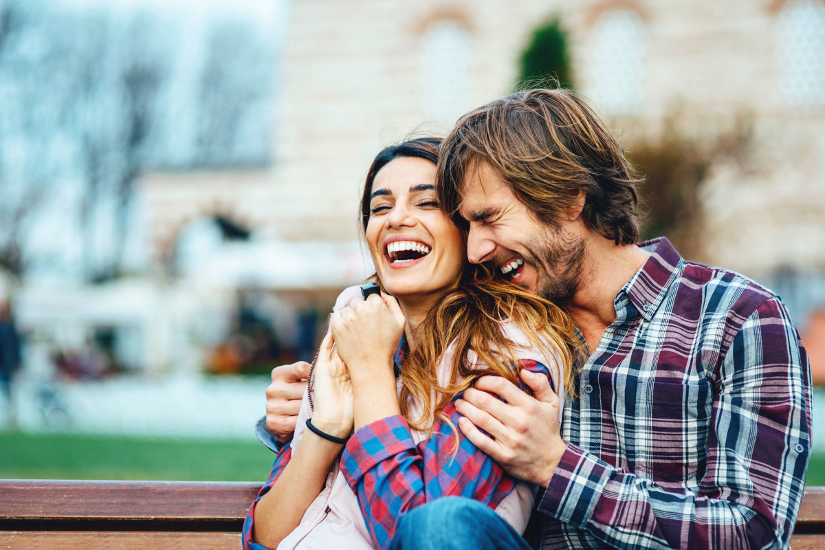 a secret to a happy relationship is to laugh together...