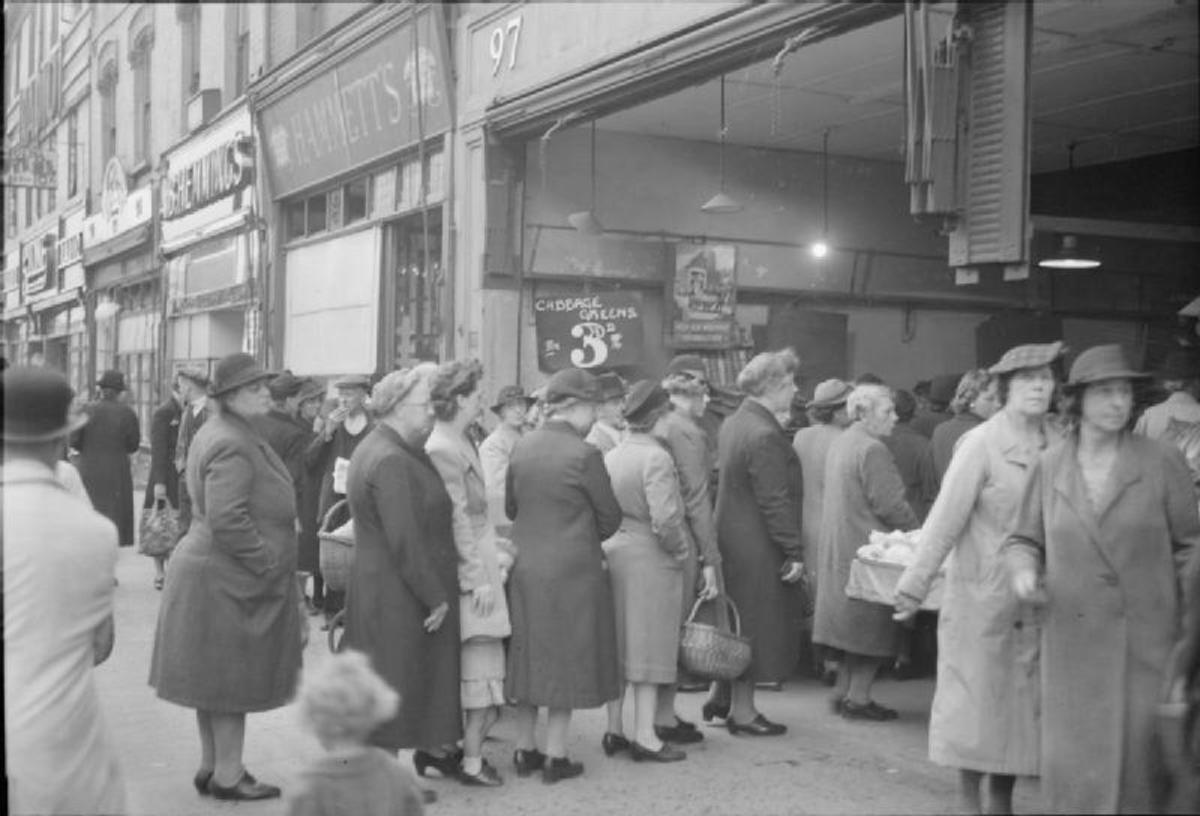 The tradition of queueing was probably at its height during the second world war.