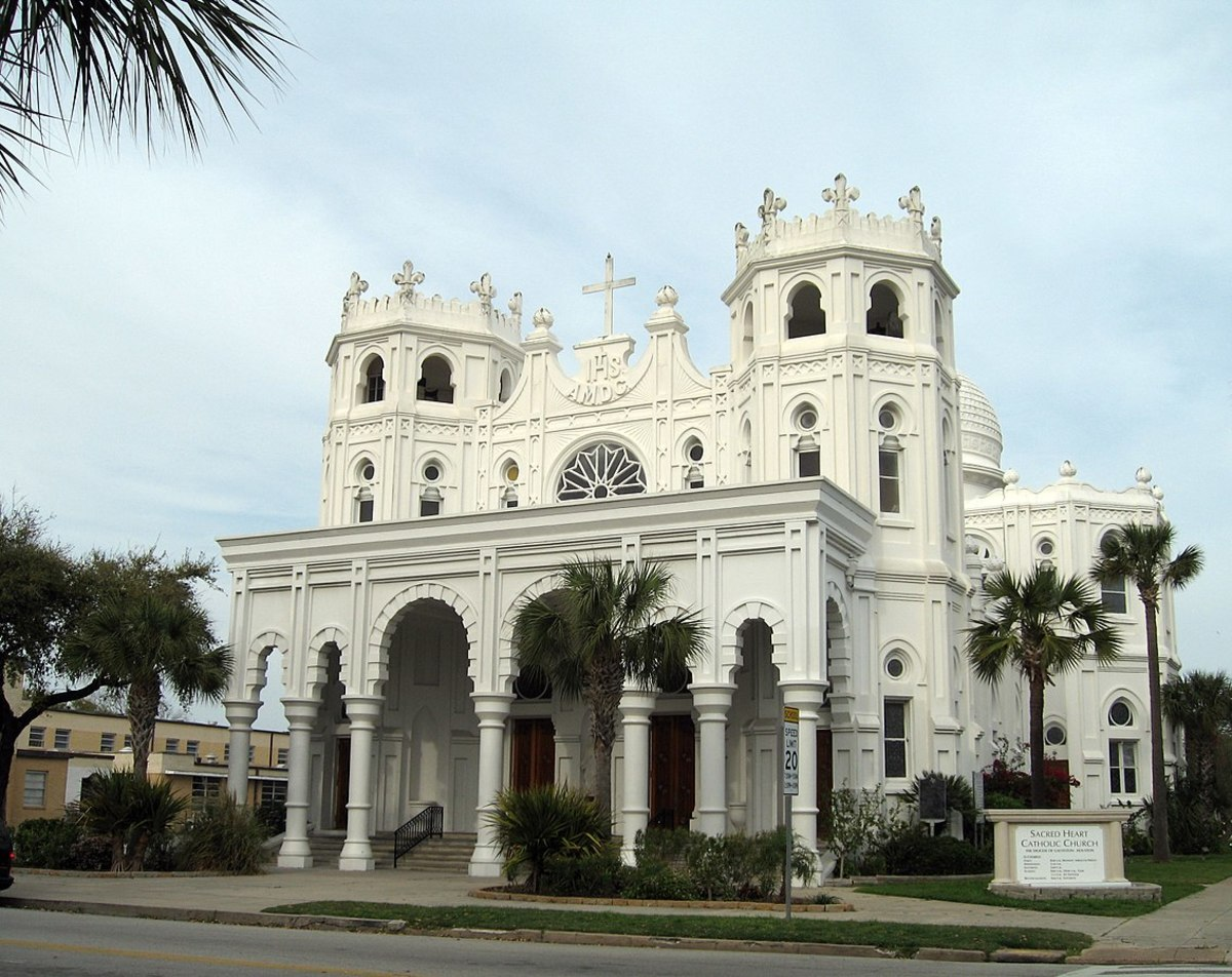 Sacred Heart church on Broadway and 14th St. in Galveston, Texas.