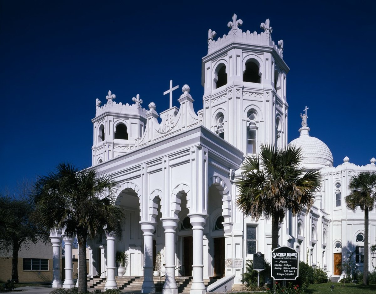Sacred Heart Catholic Church, Plus a Historical Introduction to Galveston, Texas