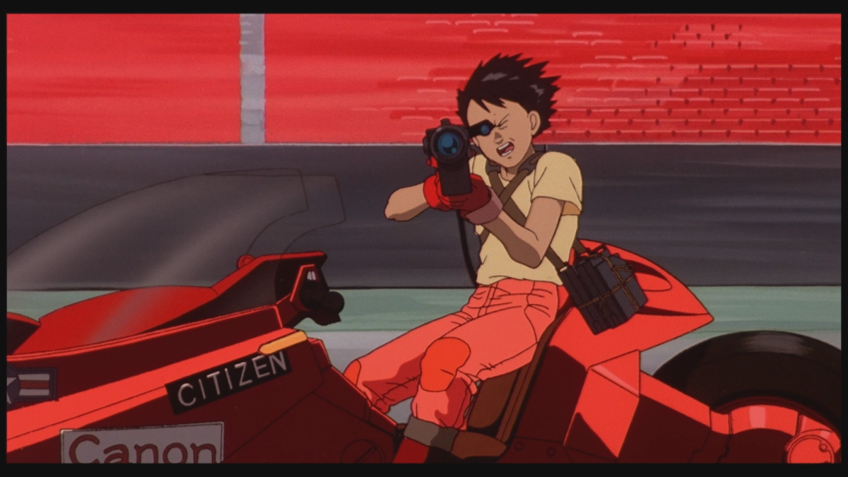 """An iconic moment in """"Akira""""."""