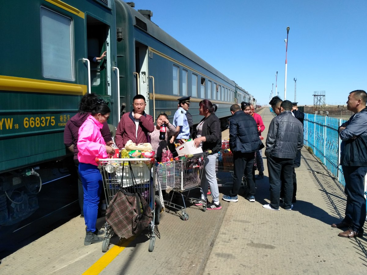 There are several stops along the journey where you can get off the train for a few minutes to stretch your legs. At some stops you may find locals selling snacks and drinks.