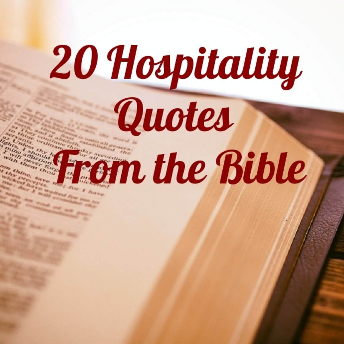 20 Hospitality Quotes from the Bible