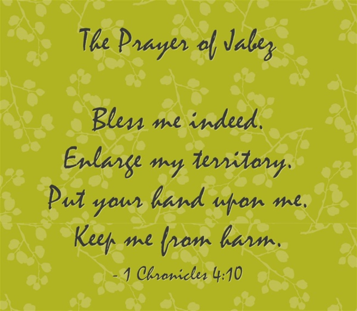 Four-Part Prayer of Jabez