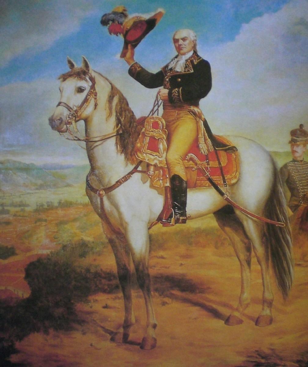 Equestrian portrait of Francisco de Miranda (1750-1816) by Emilio Jacinto Mauri