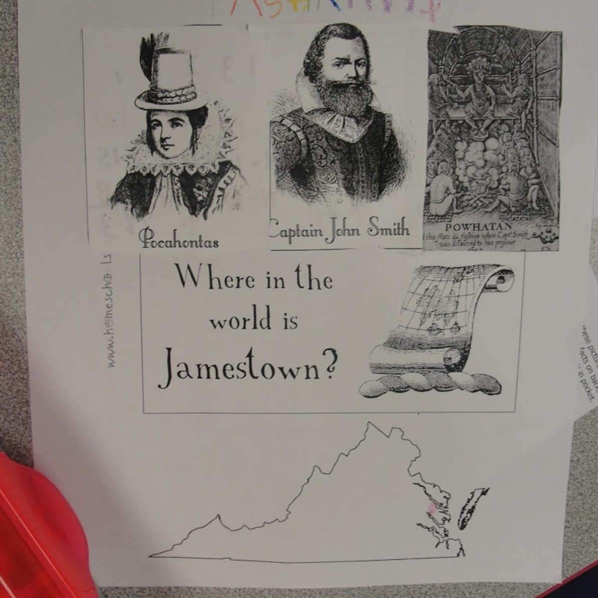 Jamestown Notebook Page