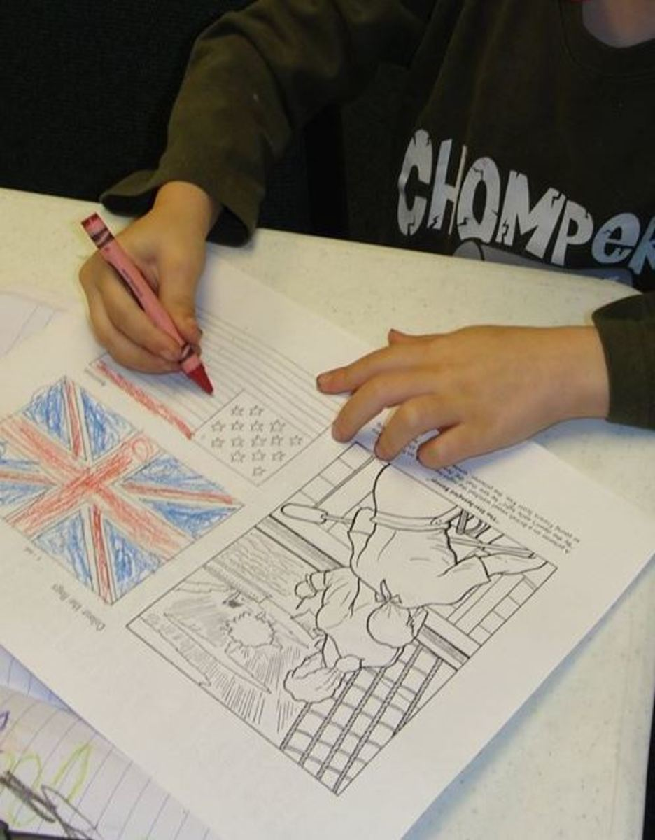Coloring the flags & Francis Scott Key