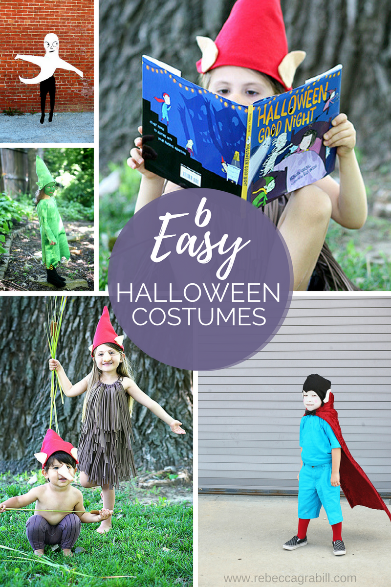 Six adorable and easy DIY Halloween Costumes for Kids!