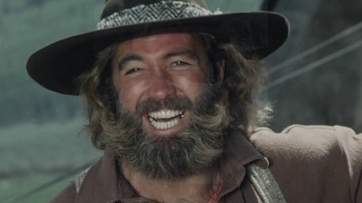 The late Dan Haggerty who starred in The Life and Times of Grizzly Adams.