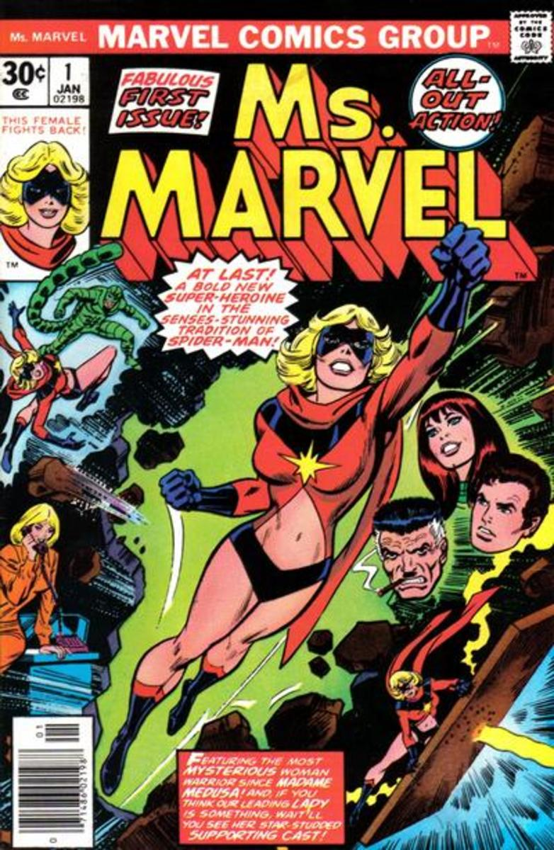 Ms. Marvel #1 is the debut of Carol Danvers as a super-hero and as Ms. Marvel.