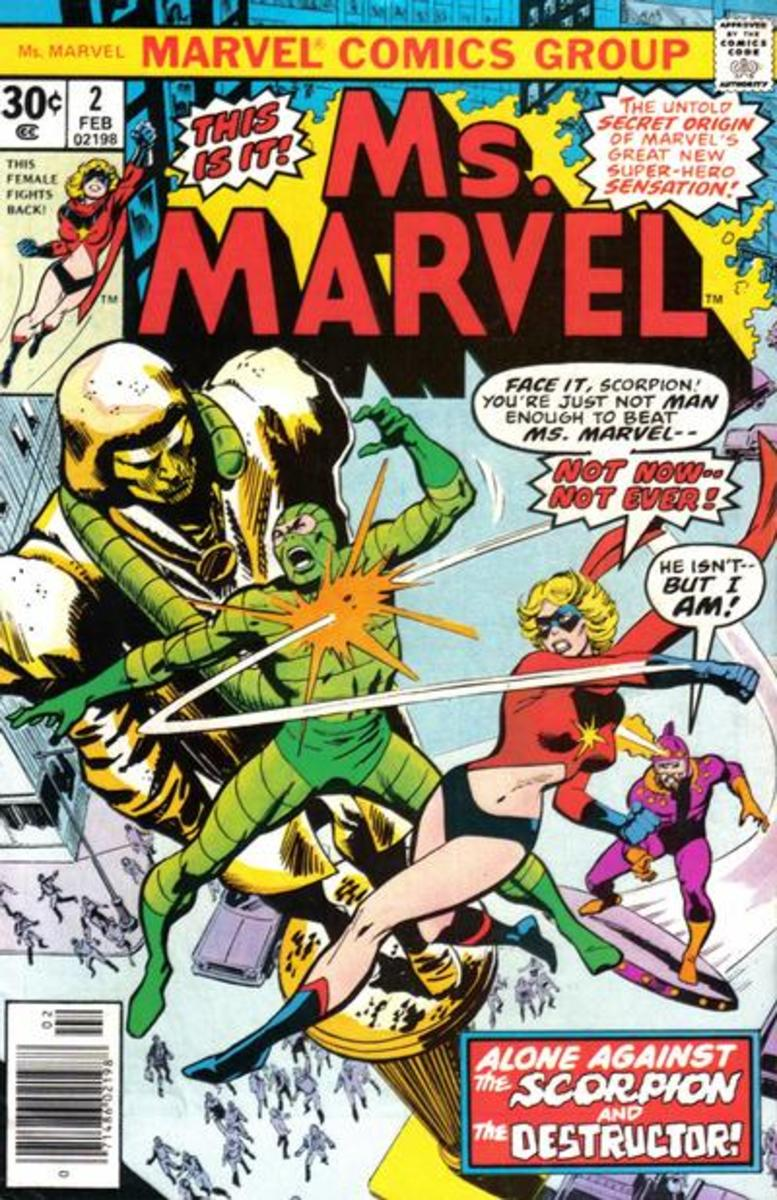 The event that happens in Captain Marvel #18 is finally revealed to be the cause of Carol gaining her powers and that is not revealed until issue #2 of the 1977 Ms. Marvel comic series.