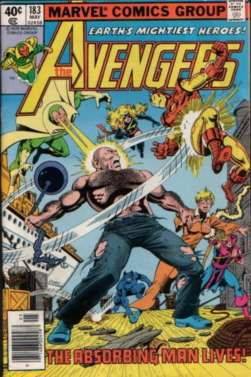 Cover to Avengers #183 - Ms. Marvel joins the Avengers in this issue.