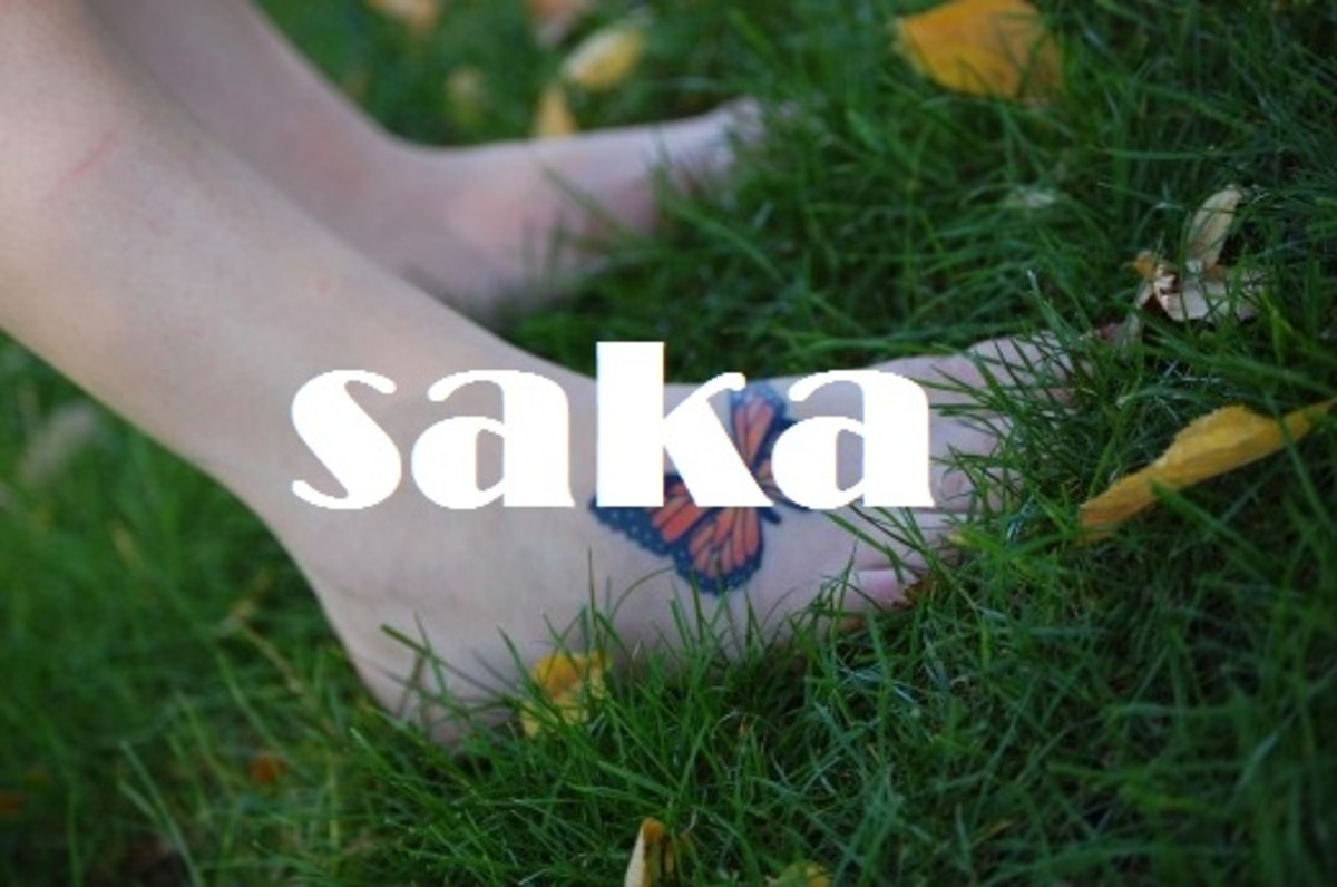 Saka (feet).