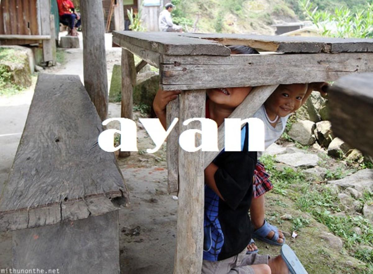 Ayan (where).