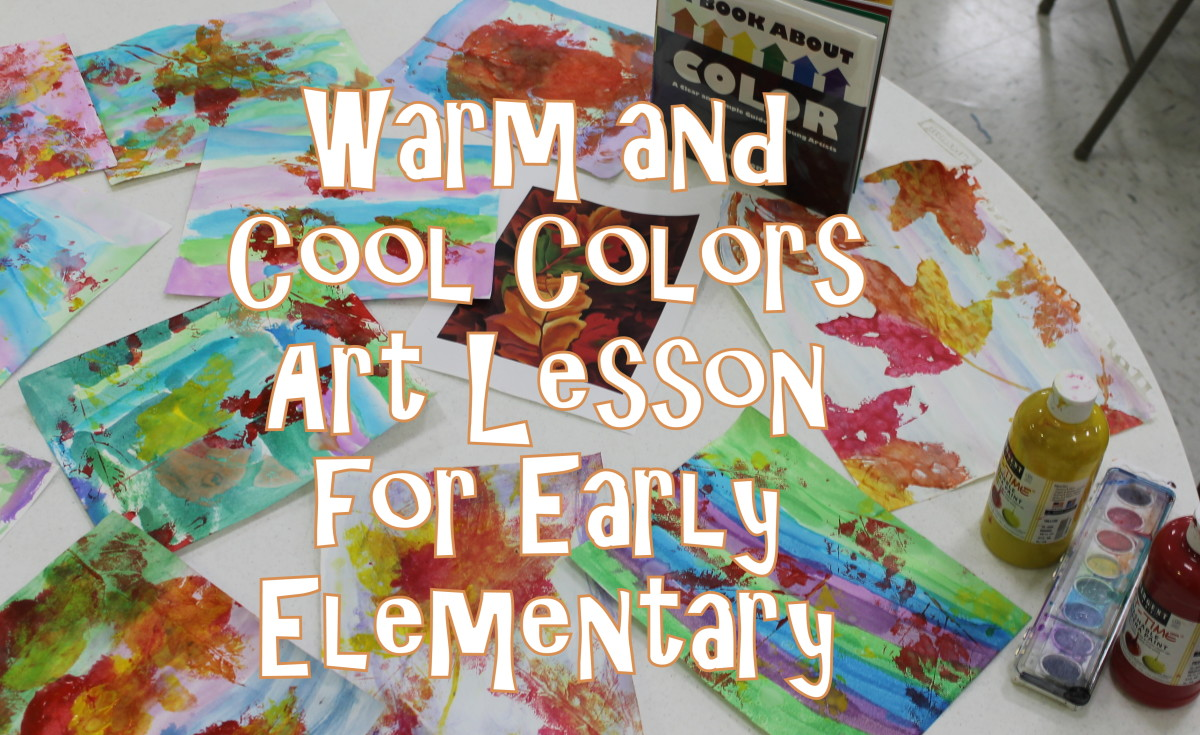 Warm Colors and Cool Colors Art Lesson for Early Elementary