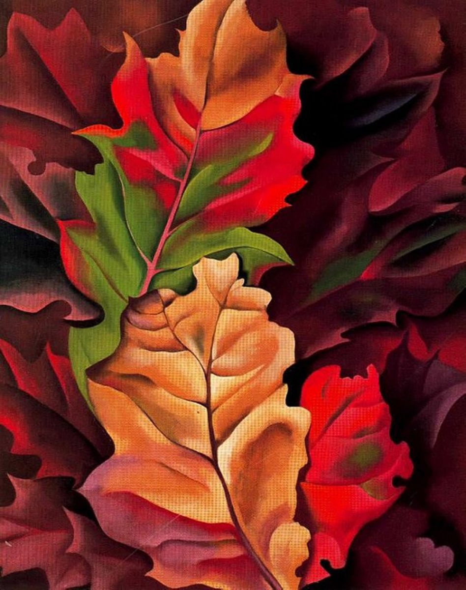 Autumn Leaves, Lake George, 1924 by Georgia O'Keeffe - Image credit: https://www.georgiaokeeffe .net/autumn-leaves.jsp