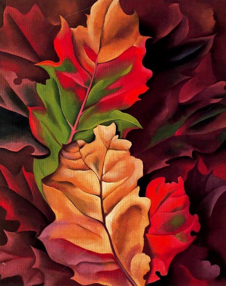 Autumn Leaves, Lake George, 1924 by Georgia O'Keeffe - Image credit: https://www.georgiaokeeffe .net/autumn-leaves.jsp