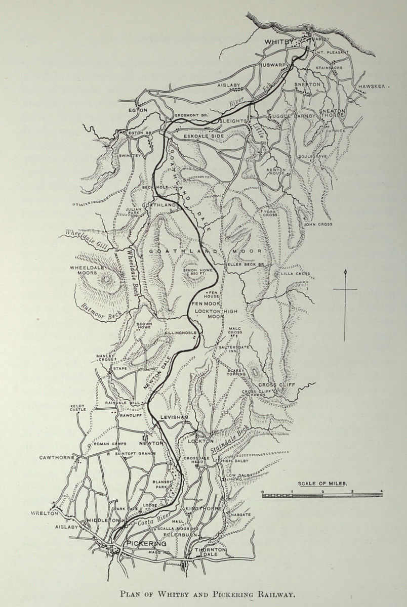 Whitby & Pickering Railway, the proposed route via Beck Hole and incline to Goathland