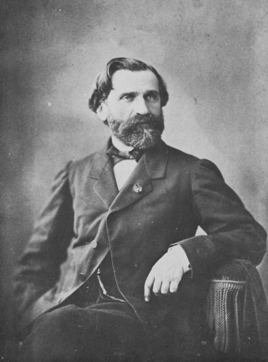 Photograph of Verdi c1866.