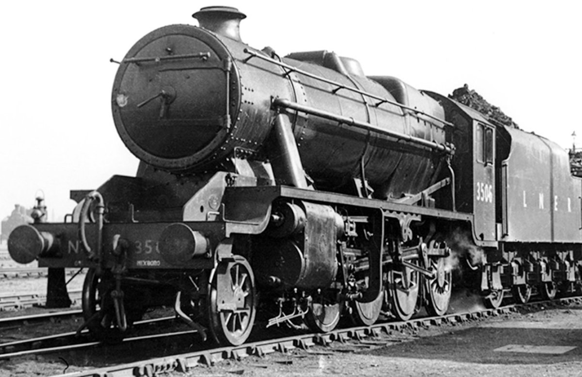 LNER built Class O6 (Stanier LMS 8F design) No.3506 seen here on shed before re-allocation to LMS, then in 1948 British Railways Midland Region