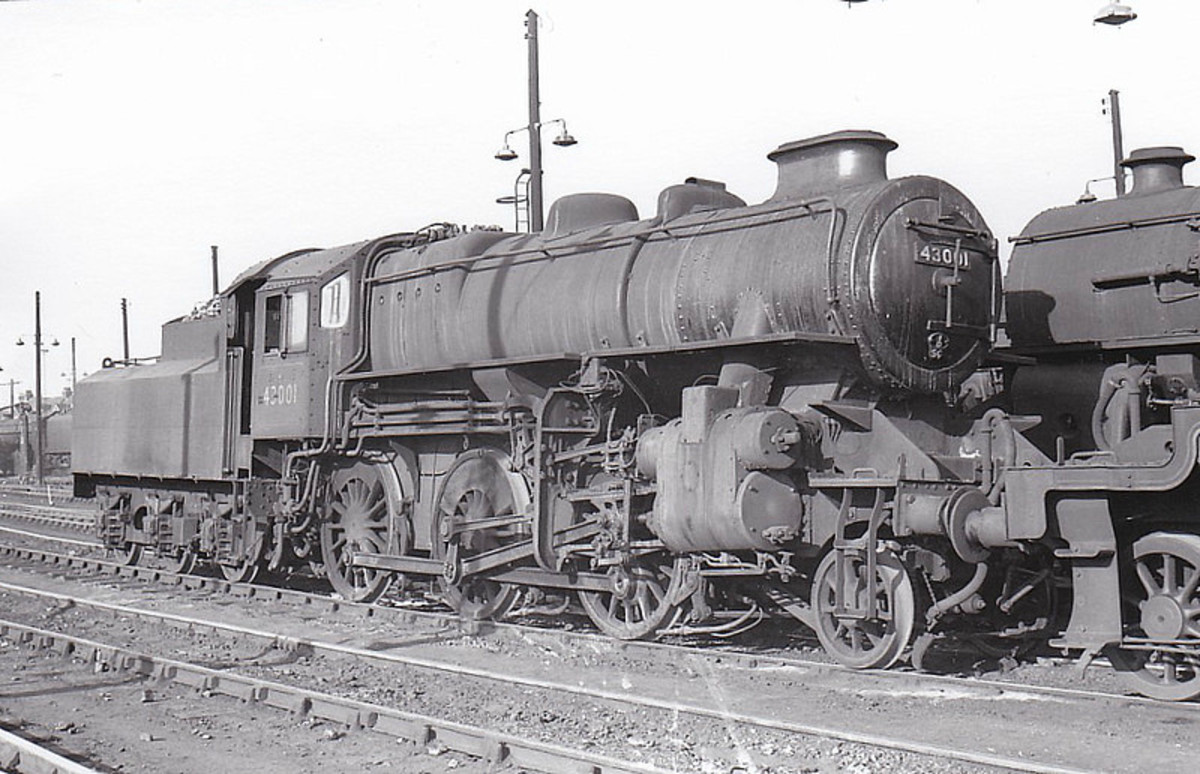 Ivatt LMS design Class 4MT 2-6-0 seen on shed - a number were built by the LNER at North Road works, Darlington, allocated to LNER sheds and British Railways North Eastern Region around three Darlington area sheds (51A, 51C, 51E)