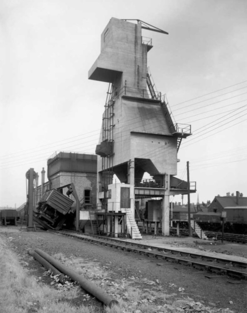 Locomotive coaling plant at Grantham - hitherto the preserve of male railway workers - a step up from manual coaling that called for muscle-power, women would have been taught to operate the controls. It was nevertheless dirty and dusty work