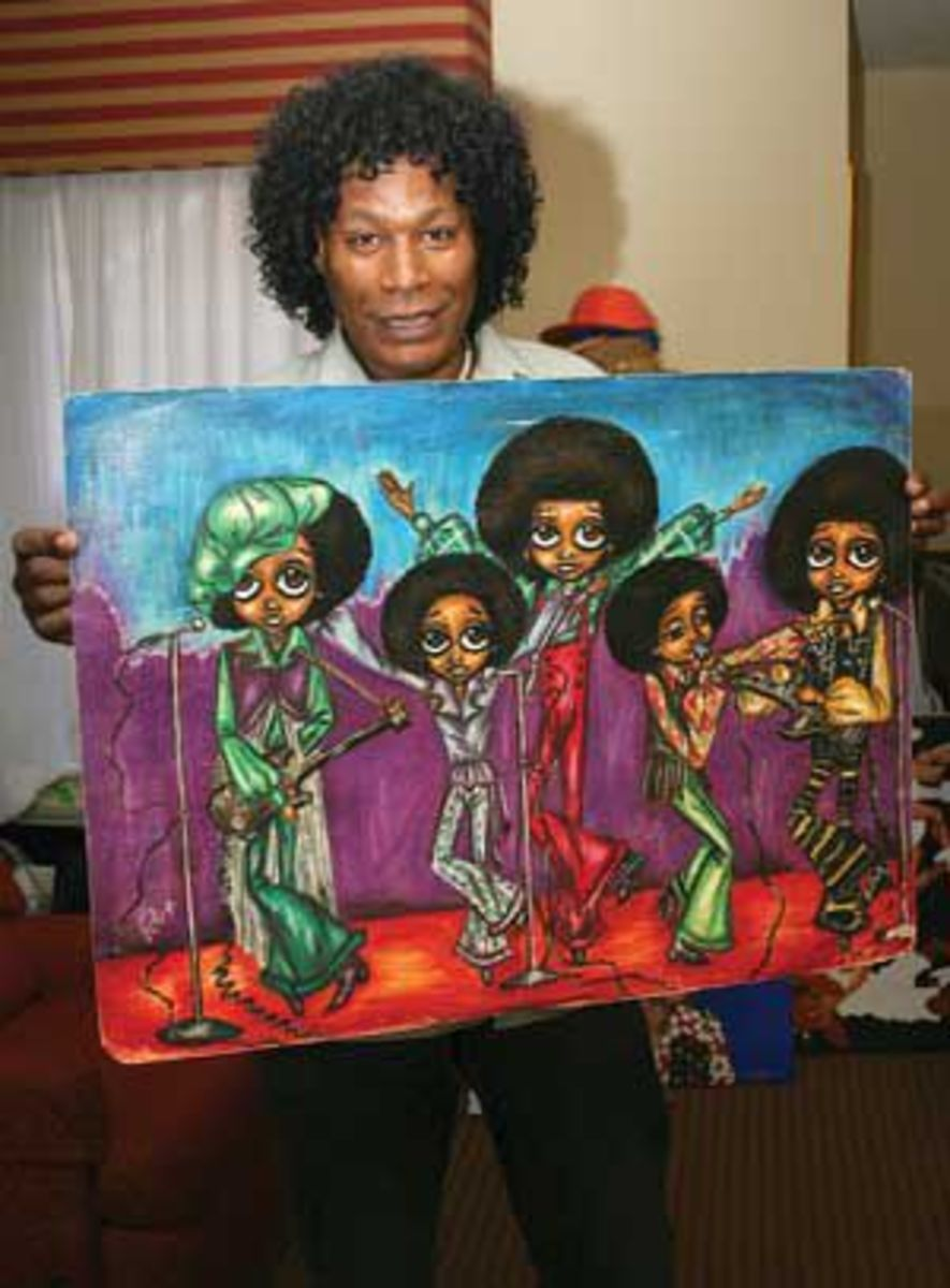 Dr. Ron with one of his earlier pieces of the Jackson 5 that caught their attention.
