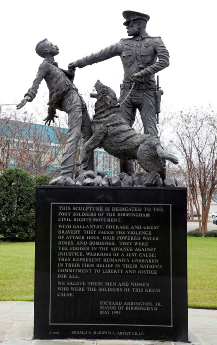 The Foot Soldier statue erected in Ingram Kelly Park, Birmingham, AL. has become one of the most visited and photograph statues in Alabama from the Civil Rights era.