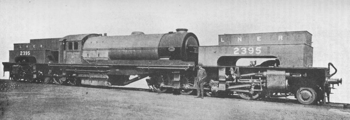 Class U1 2-8-8-2 articulated heavy freight locomotive - Not a Gresley design but contracted from Bsyert-Garratt for heavy coal trains on the steeply graded Wath line between Sheffield and Manchester. One only purchased,