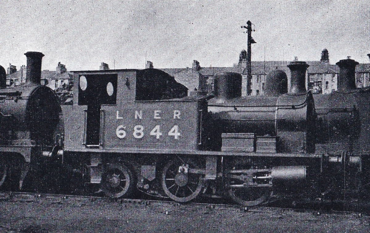 Class Z4 0-4-2 tank engine was bought in 1916 from Manning Wardle of Leeds. She's seen here at Kittybrewster shed on the former GNoSR system