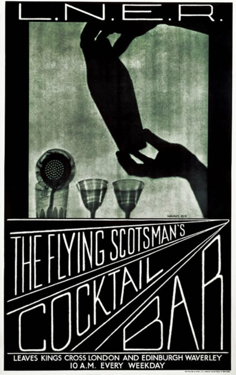The romance of 1930s express services - heightened by the flamour of cocktail bars - fancy a Manhattan at 120 mph? 'Flying Scotsman service could offer dining and a cinema car... ticket anyone?