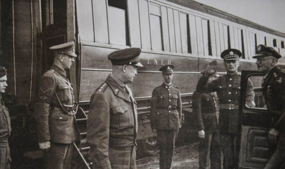 General Eisenhower leaves the armoured LNER carriages built for his personal use until the D-Day 1944 landings took forces to Europe