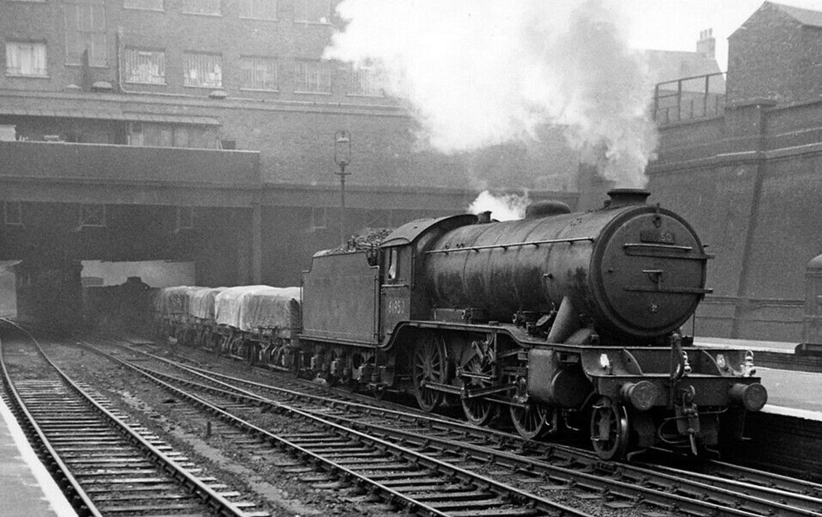 Class K3 2-6-0 was designated 'mixed traffic', -  seen here with mixed goods, the locomotive might also be seen on weekend holiday specials...