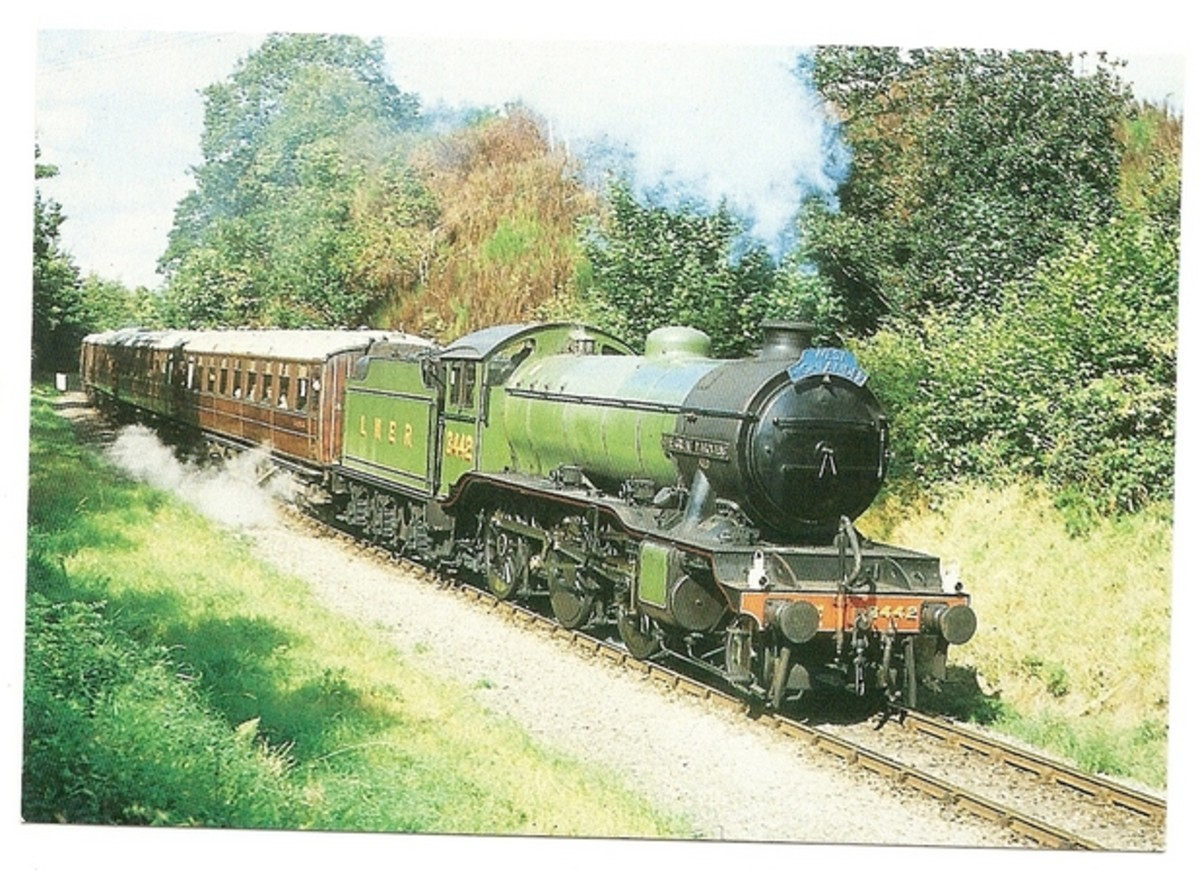 Gresley Class K4 2-6-0, 'The Great Marquess' is seen here with a steam tour in the 1960s after being bought for preservation by Viscount Garnock - they were designed for the West Highland line fish trains to Glasgow