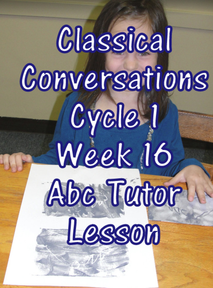CC Classical Conversations Cycle 1 Week 16 Abc Tutor Lesson Plan