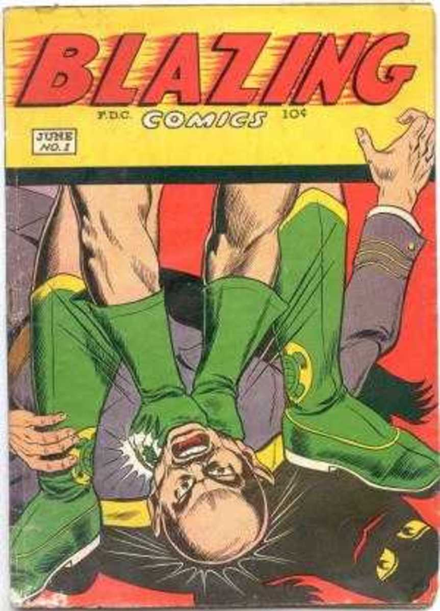 The Green Turtle 1st appeared in Blazing Comics #1