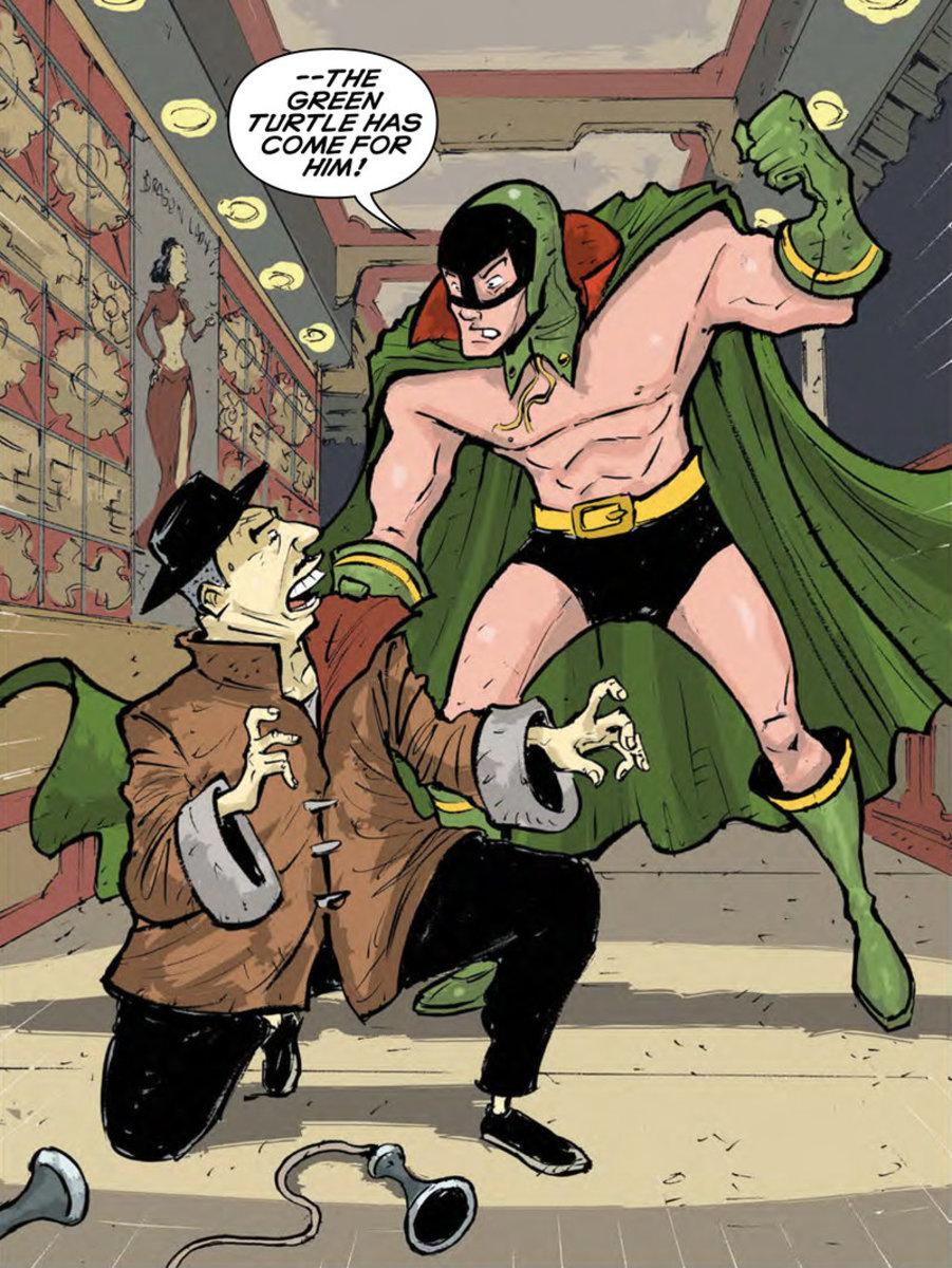 Green Turtle in modern comics.