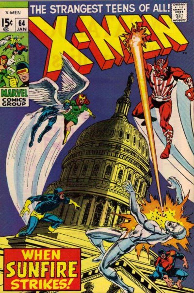 Sunfire 1st appearance is in X-Men #64