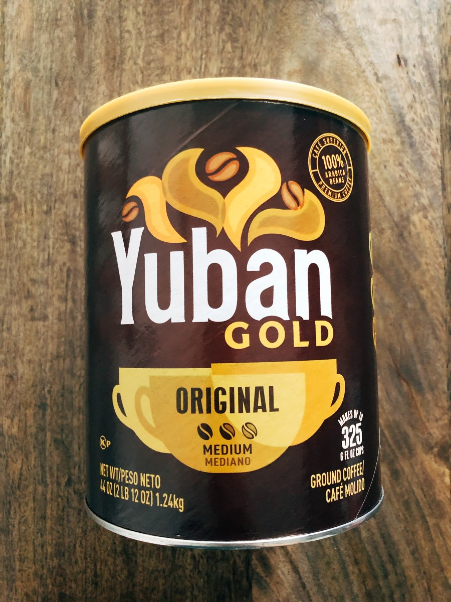 The Yuban coffee - save money by buying the big container.