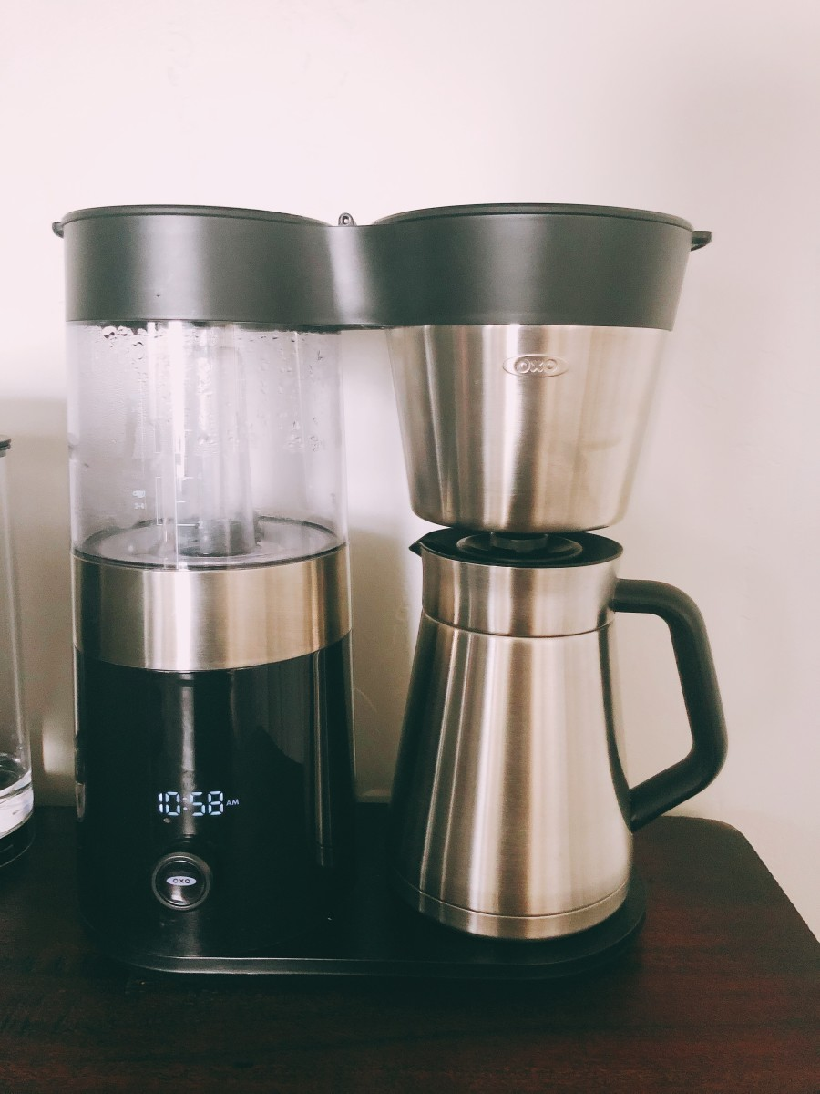 The OXO coffee maker for a drip coffee. We use this every day.