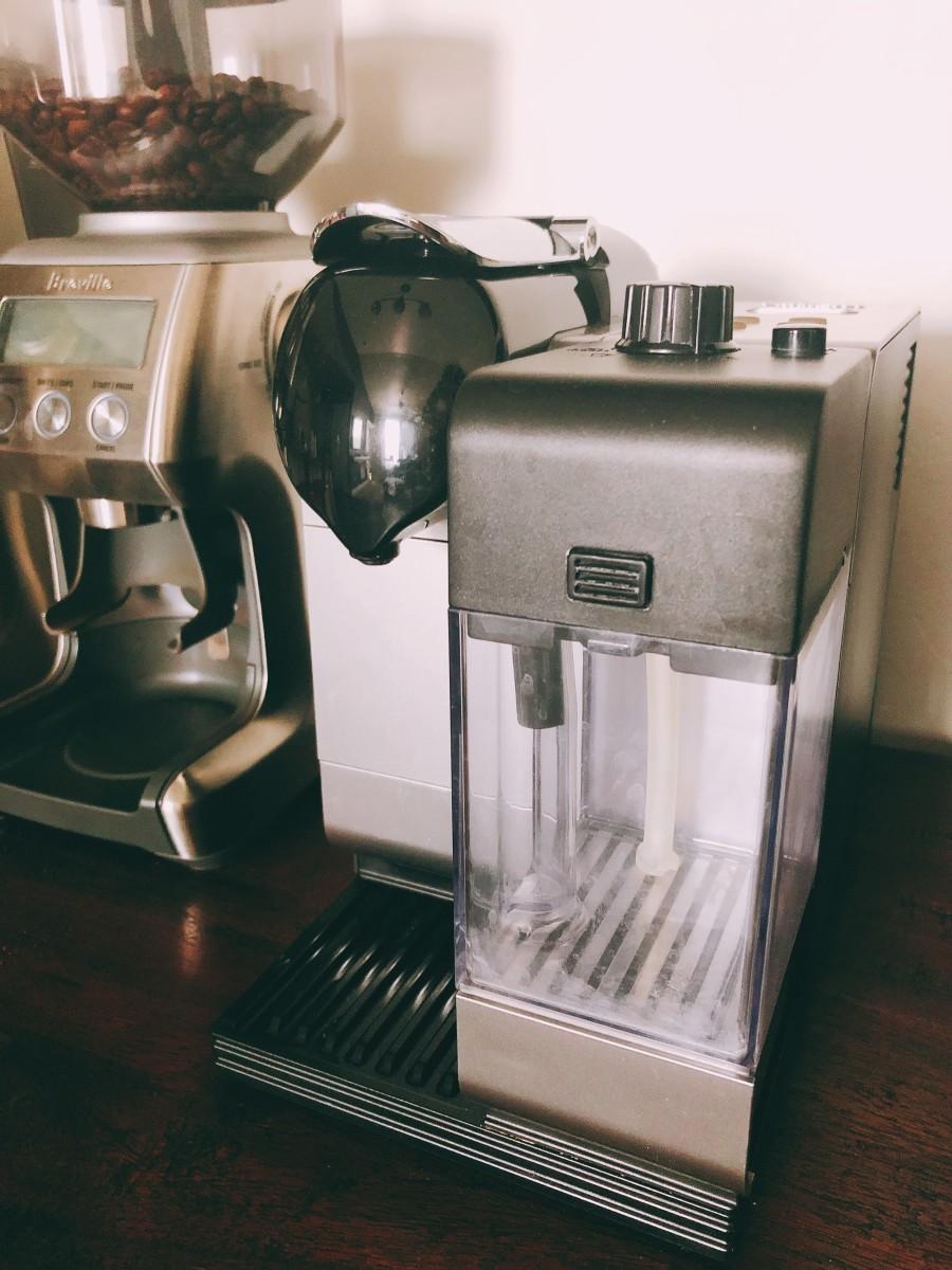 The Nespresso coffee maker.