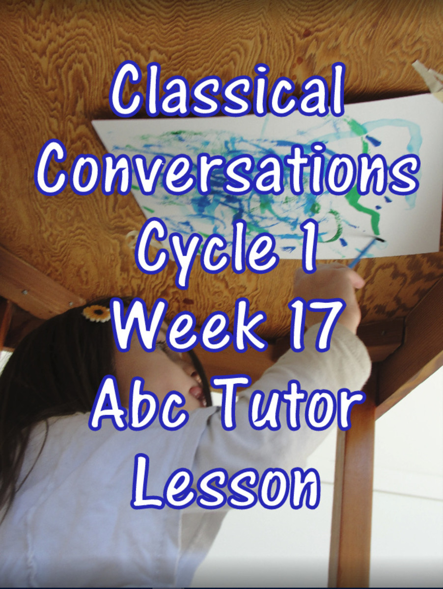 Classical Conversations Cycle 1 Week 17 Abc Tutor Plan