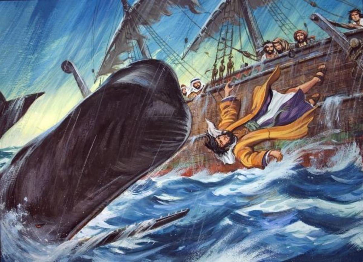 Prophet Jonah Thrown into the sea