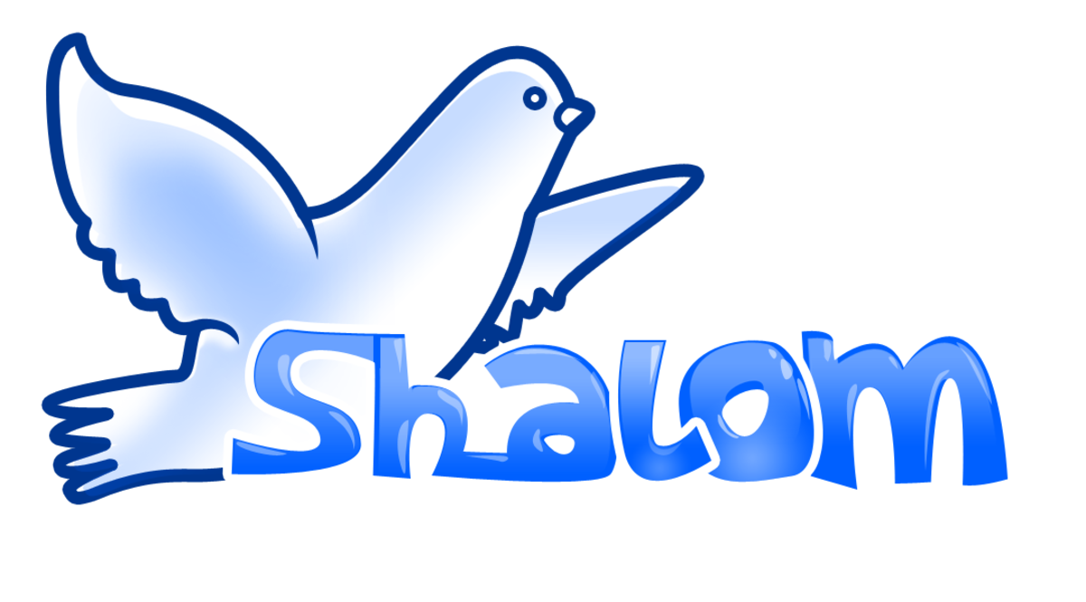 The dove is a symbol of peace. Shalom is a Hebrew word that means peace.