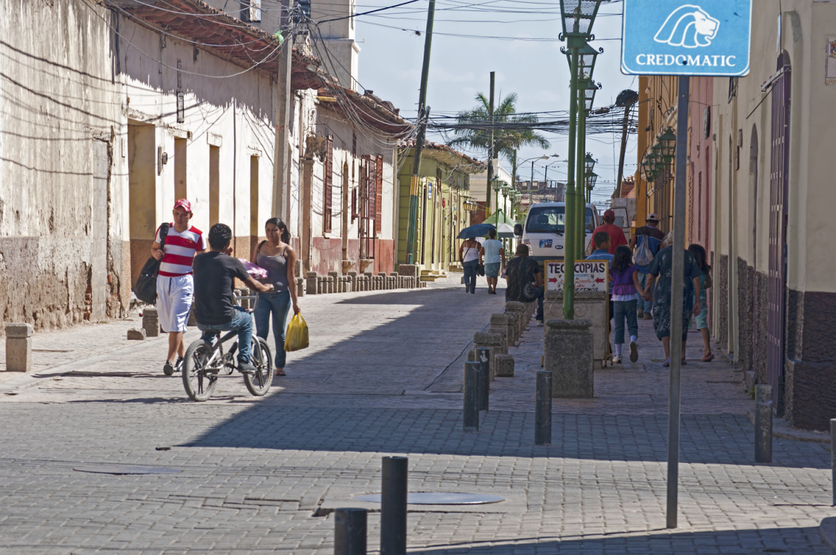 Downtown Comayagua today.  Many old buildings are historical monuments, and some were here during Morazán's time.