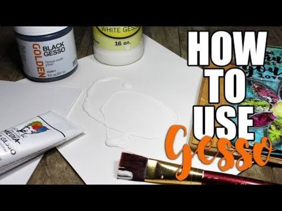 Think of gesso as the canvas for your art journal. This is especially important if you are using a recycled book .