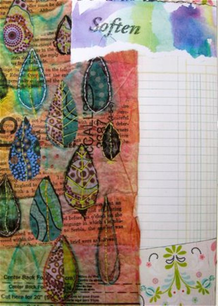 Have you ever thought about using a copier to create an art journal page? Here is the technique