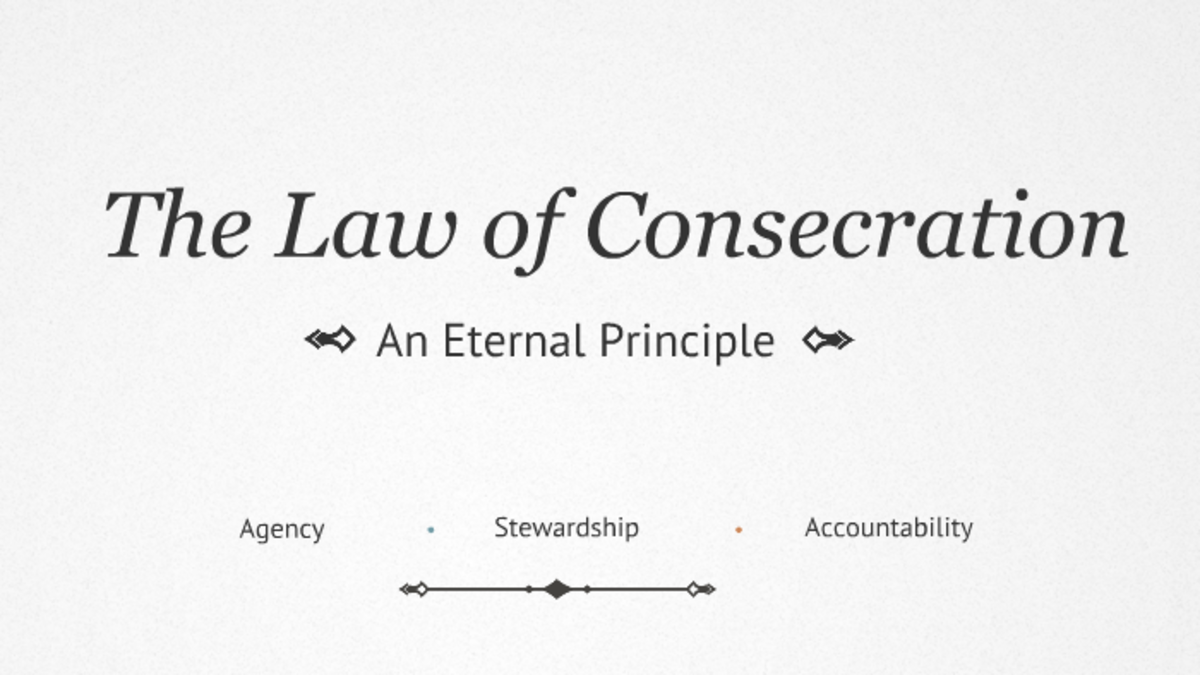 Acts of the Apostles - The Law of Consecration